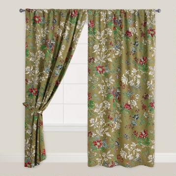 Floral Bucolic Tab Top Curtain
