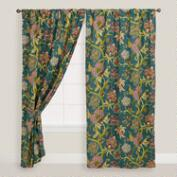 Darby Floral Tab Top Curtain