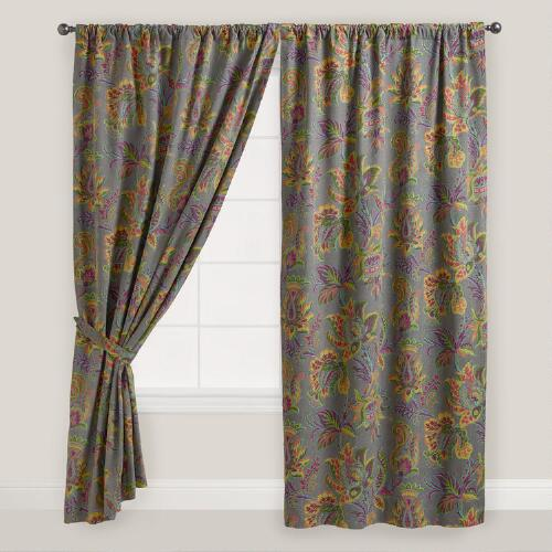 Sahara Bloom Floral Tab Top Curtain