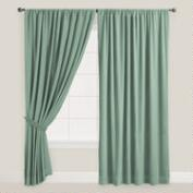 Blue Surf Velvet Dual Tab Top Curtain