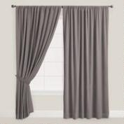 Gray Velvet Dual Tab Top Curtain
