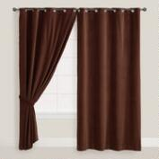 Chocolate Brown Velvet Grommet Top Curtain