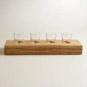 Recycled Wood Votive Candleholder