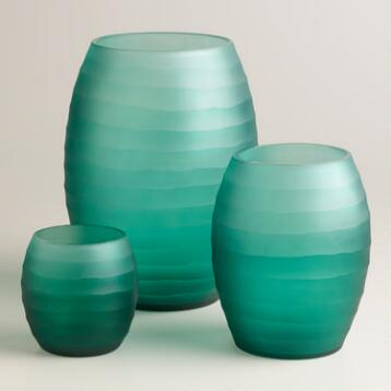 Blue Ombre Hurricane Candleholders
