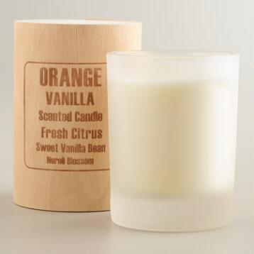 Orange Vanilla Boxed Candle