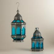 Blue Abhati Tabletop Lantern