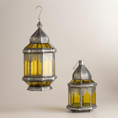 Green Abhati Tabletop Lanterns