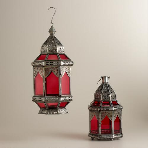 Red Abhati Tabletop Lantern