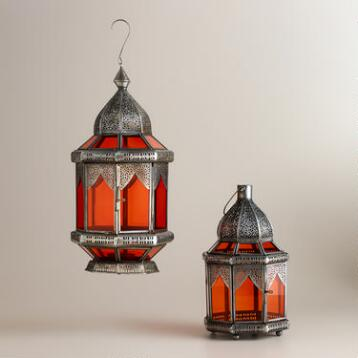 Orange Abhati Tabletop Lantern