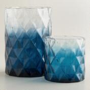 Blue Ombre Diamond Hurricane Candleholder