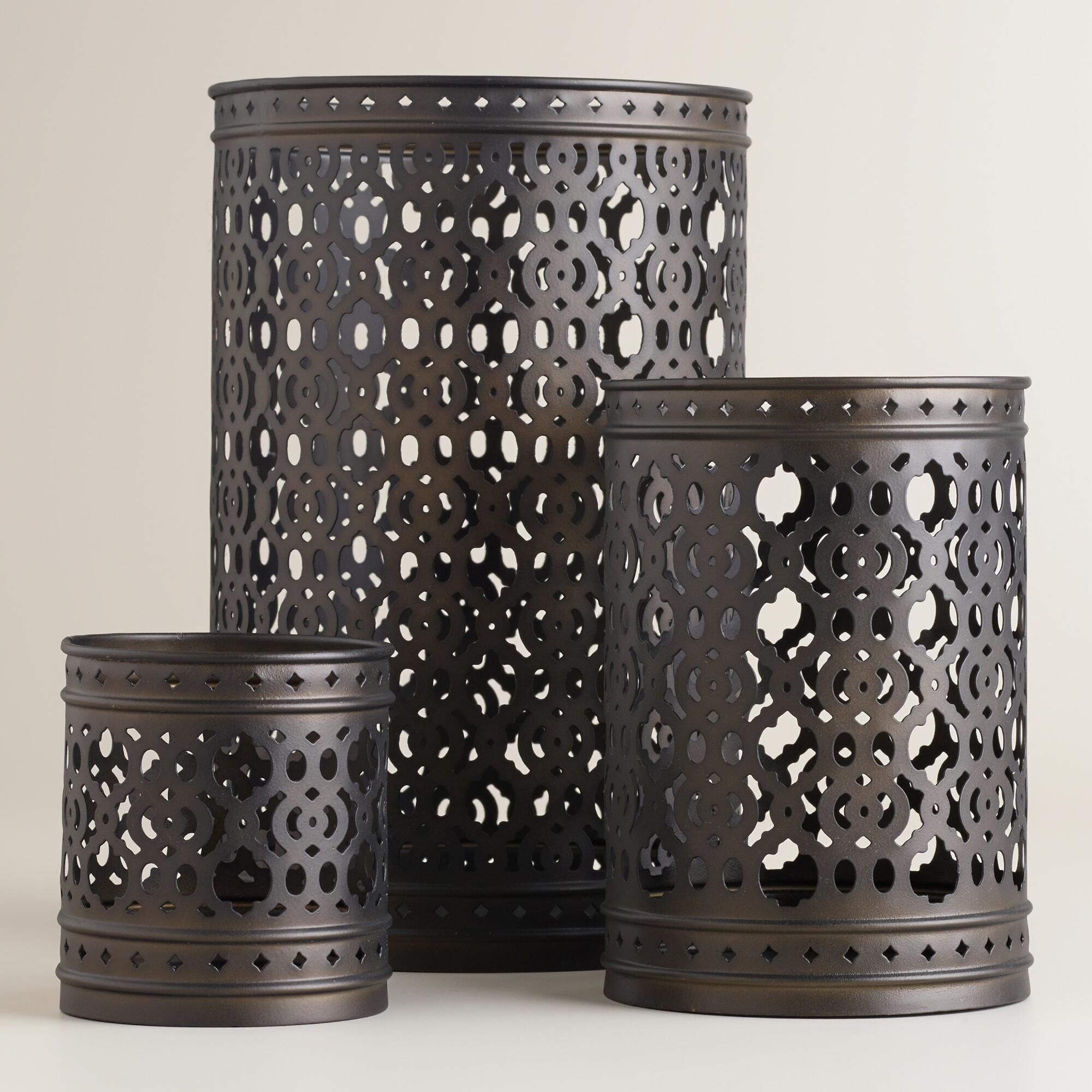 Cost Plus World Market Fall 2016 Collection: Jali Metal Hurricane Candleholder