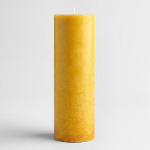 "3"" x 9"" Tunisian Amber Pillar Candle"