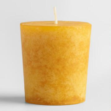Tunisian Amber Votive Candles, Set of 12