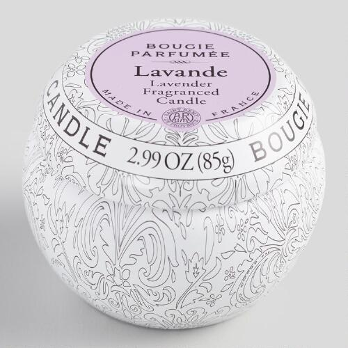 Lavender Travel Candle Tin