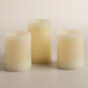 Remote Control Flameless LED Pillar Candles, Set of 3