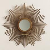Bronze Metal Starburst Wall Sconce