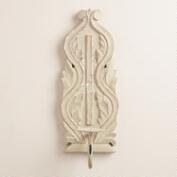 Gray Wooden Wall Sconce
