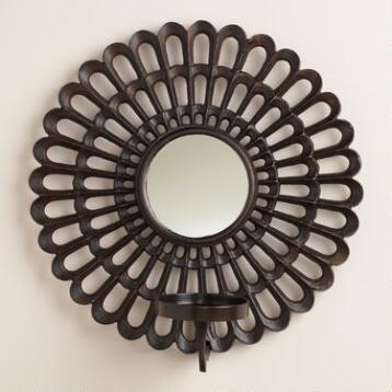 Scalloped Metal Sconce Candleholder