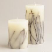 Twig Pillar Candles