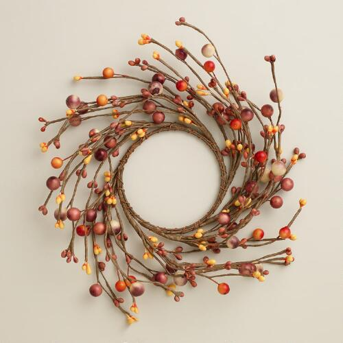 Fall Berry Candle Ring