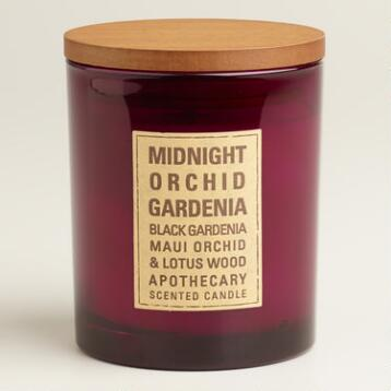 Midnight Orchid Gardenia Glass Tumbler Candle