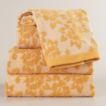 Honeycomb Floral Towel Collection