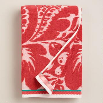 Coral Esme Sculpted Bath Towel