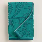 Teal Esme Sculpted Towels