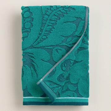Teal Esme Sculpted Bath Towel