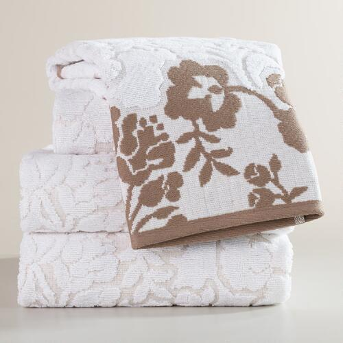 Elise Linen Sculpted Bath Towel Collection