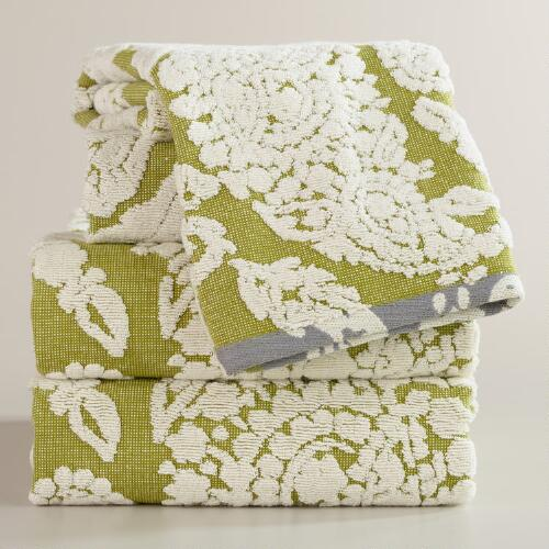 Bliss Paisley Sculpted Bath Towel Collection