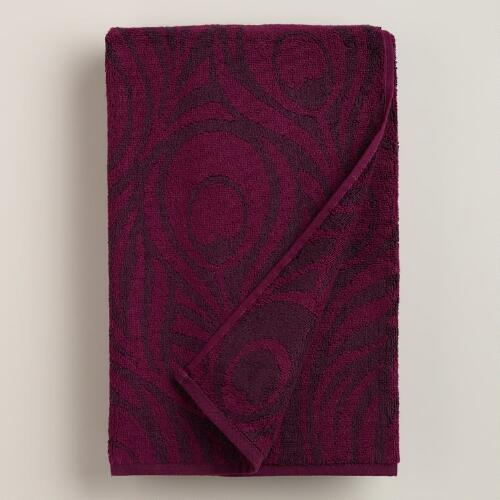 Peacock Feather Jacquard Towels
