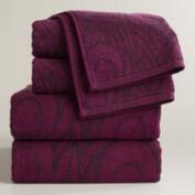 Peacock Feather Jacquard Bath Towel Collection