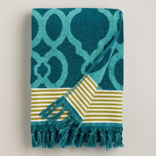 Ethel Jacquard Towels with Tassels