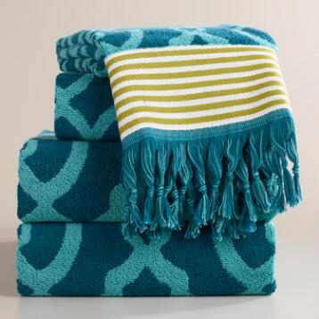 Ethel Jacquard Bath Towel Collection