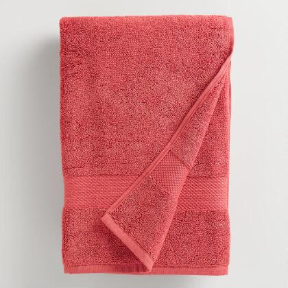 Coral Cotton Bath Towel