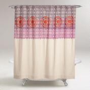 Iris Embroidered Shower Curtain
