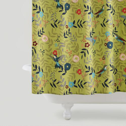 Woodland Birds Shower Curtain