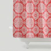 Coral Amina Medallion Shower Curtain