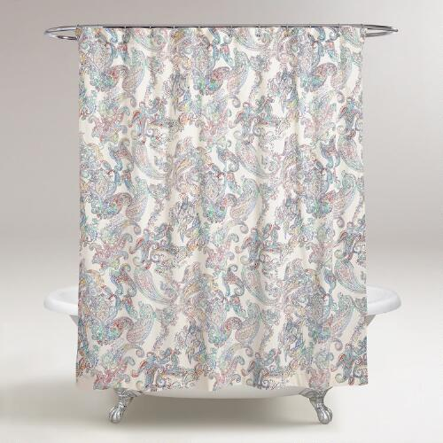Multicolor Paisley Shower  Curtain