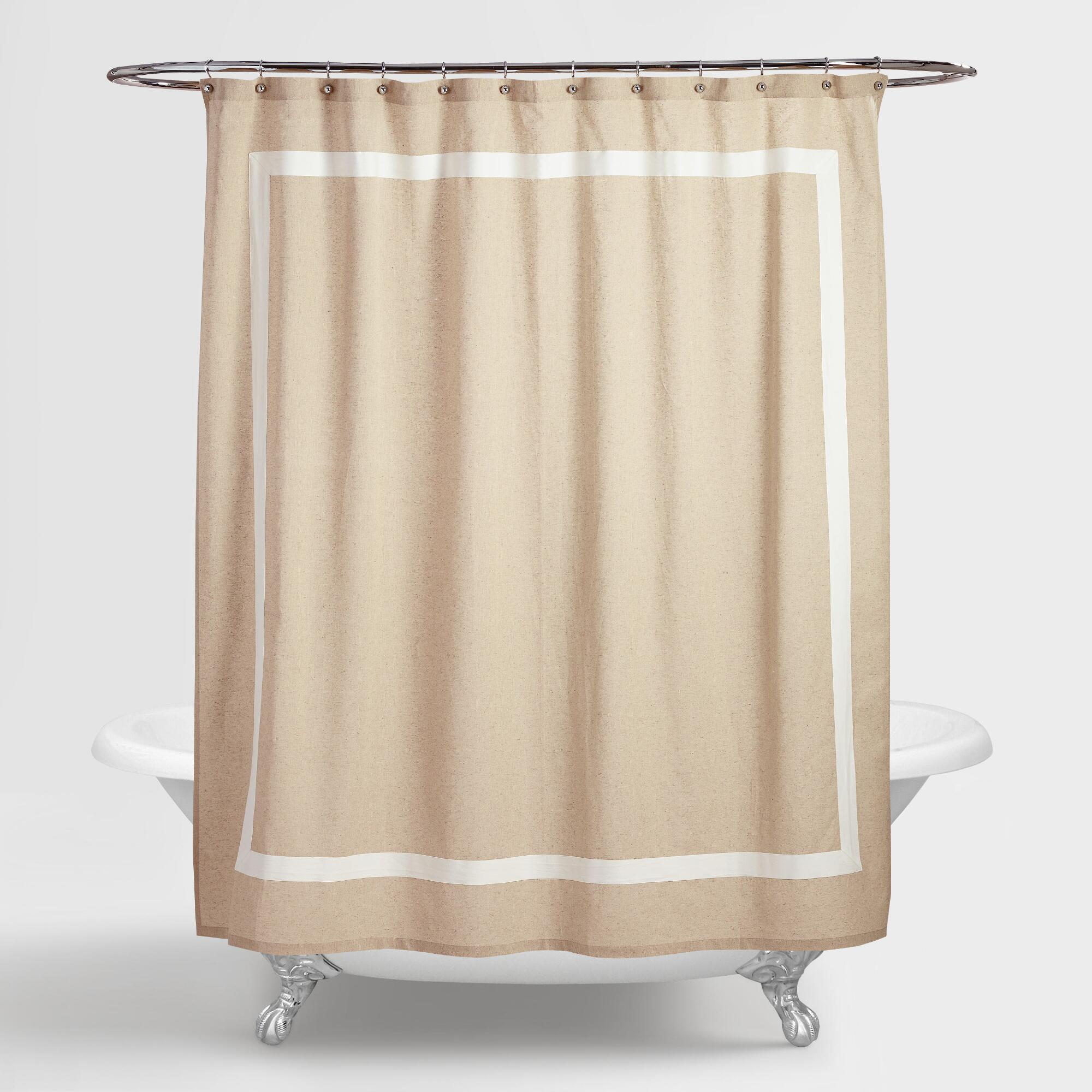 Curtains Bathroom: Amalie Linen Shower Curtain