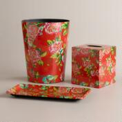 Coral Floral Bath Collection