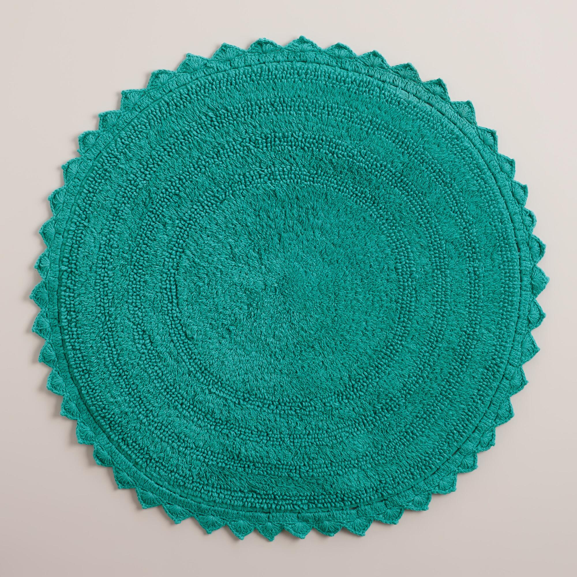 Turquoise Round Bath Mat World Market