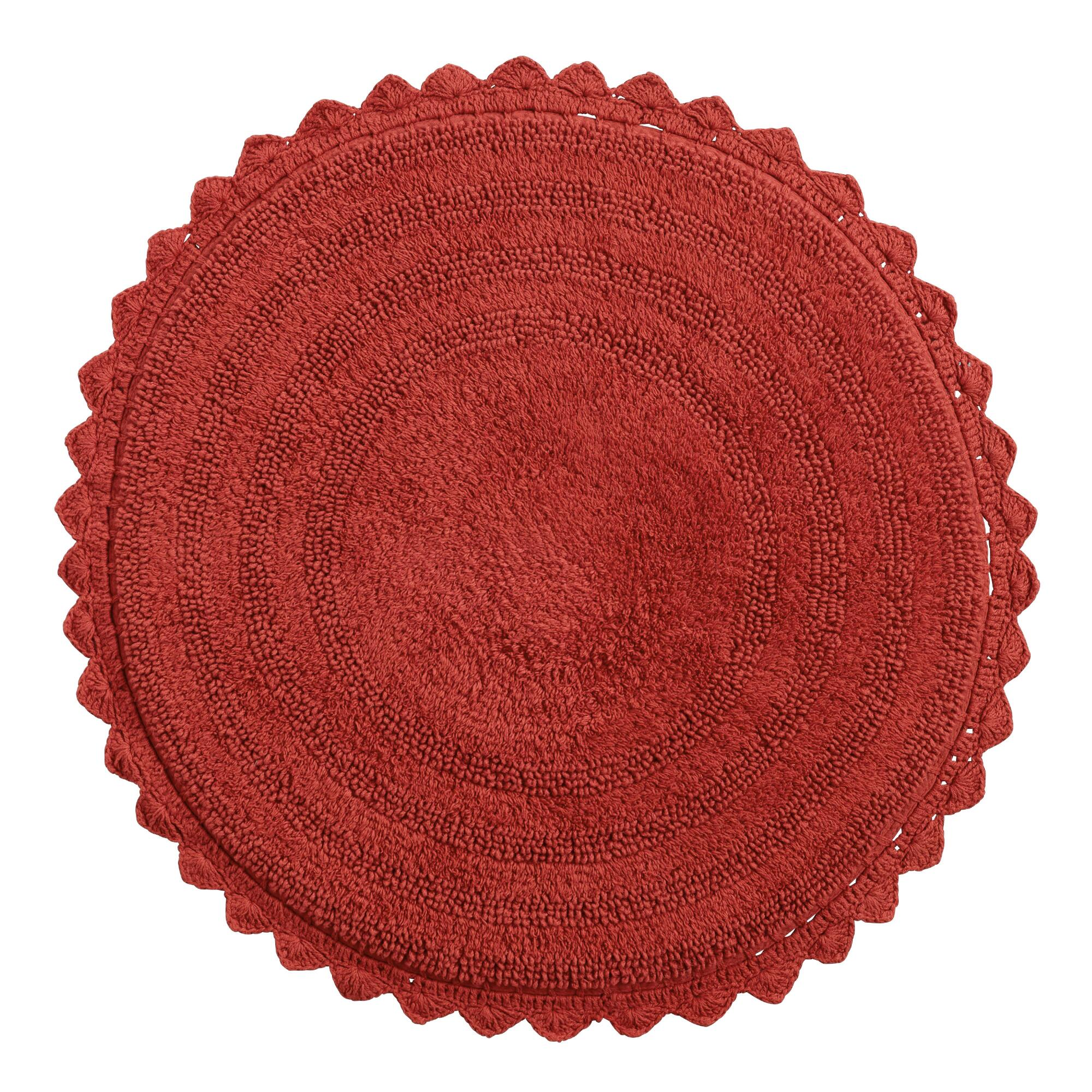 Coral Round Bath Mat World Market