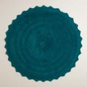Ink Blue Round Bath Mat