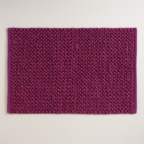 Plum Jersey Loop Bath Mat