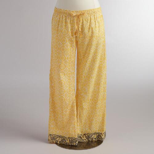 Mela Embroidered Pajama Pants