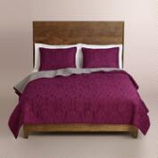 Plum and Frost Gray Simone Bedding Collection