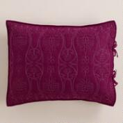 Plum and Frost Gray Simone Pillow Shams,  Set of 2