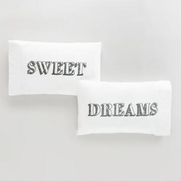 Sweet Dreams Pillowcases, Set of 2